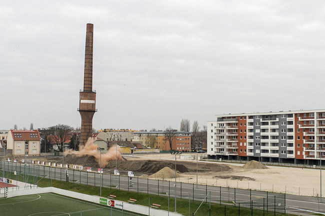 Győr oil factory chimney pic